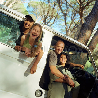 Image of 'families, car, camping'