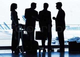 Bild von 'Flughafen, Silhouette, Gepäck'
