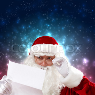 Santa with christmas letter