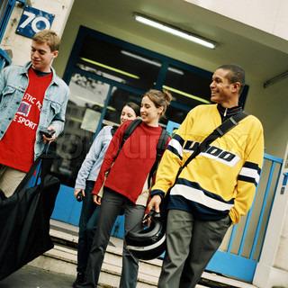 Billede af 'teenagere, gruppe, mobiler'