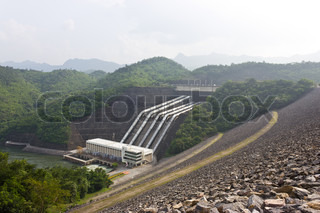 Of the dam hose to bring water to produce electricity