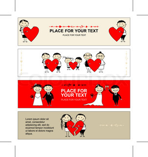 Valentine day Collection of banners for your design