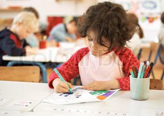 Billede af 'skoleelev, klasse, skolebørn'