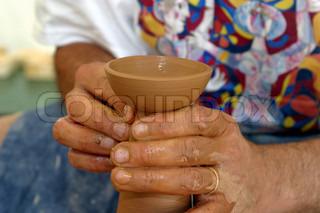 Image of 'pottery, handicraft, hand'