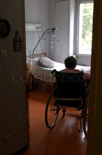 Image of 'nursing home, senior, alone'