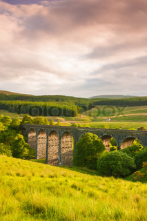 Dent Head Viaduct In Great Britain