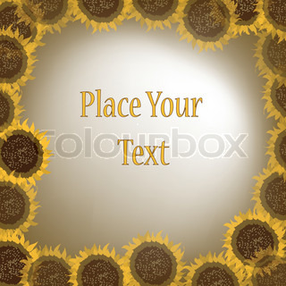 Circle of sunflowers with message