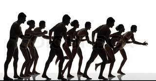 Image of 'run, silhouette, running'