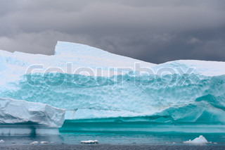 Different forms of icebergs, Antarctica