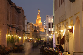 Souq Waqif at dusk, Doha Qatar Photo taken at 7th of January 2012