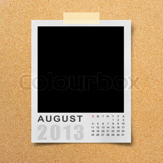 Calendar 2013 on photo background