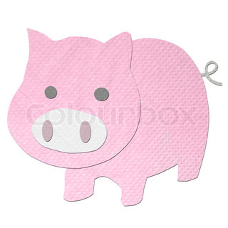 pig made from tissue papercraft