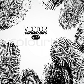 Vector thumb, finger print background