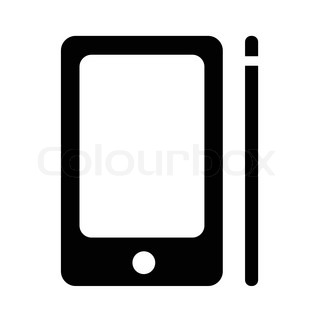 Tablet icon in black