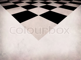 Illustration of grunge checkered on paper, abstract background