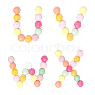 Colorful Candy alphabet set