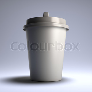 White coffee paper cup