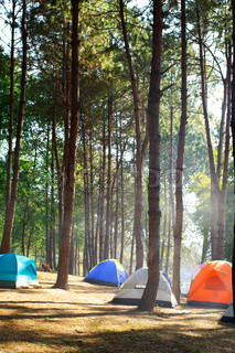 Camping telte ved floden