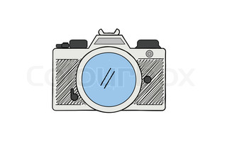 Cool Hand Drawn Old Camera Set All Time Legends | Vector | Colourbox
