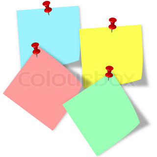 Post it note 4 color overlap