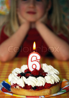 Image of 'cake, six, birthday'