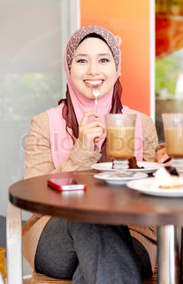 Pretty Muslim girl with a smile face