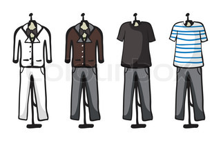 Various garments of male