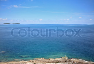 Blue ocean stock photo colourbox - Impressive house with tranquil environment to get total relaxation ...