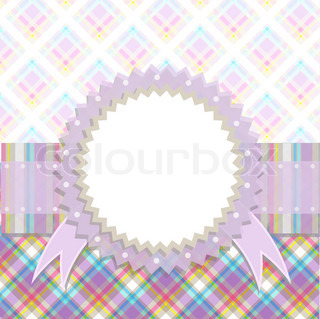 Template greeting card, vector illustration, eps 10