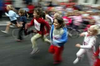 Billede af 'løbe, børn, jogger'