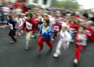 Billede af 'løbe, børn, løb'