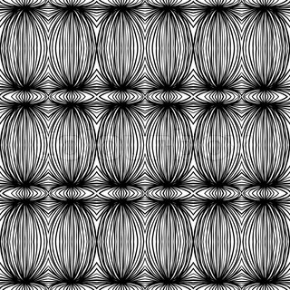 tribal black and white linear pattern, vector seamless background, wallpaper, or textile