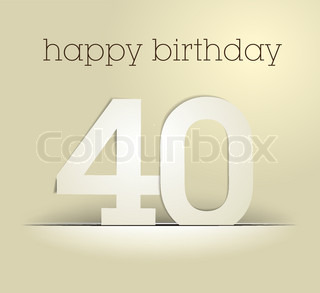 number 40, vector, paper, card, background