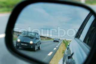 Image of 'door mirror, car, drive'