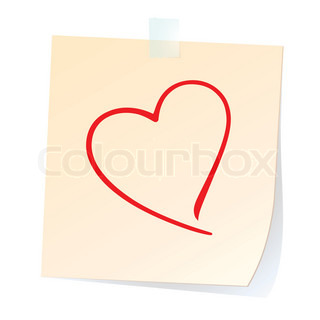 Paper Square with Heart line