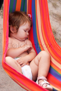 Baby sleeping sling as hammock