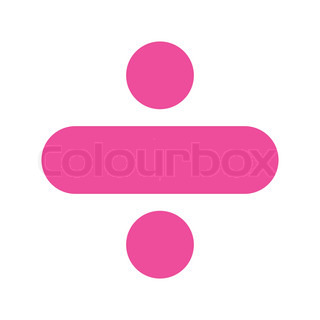 Pink Subtraction Sign