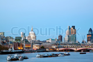 London Cityscape with St Paul's Cathedral