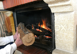 Image of 'fireplace, timber, energy'