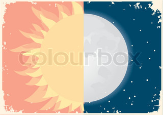 Vector image of sun and moonSymbol