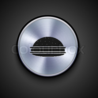 vector metal icon on gray background Eps10