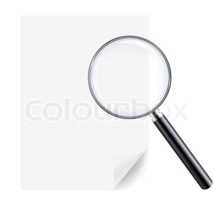 Magnifying Glass And Sheet Of Paper