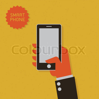 Smart Phone Outline graphic vector eps10 | Vector | Colourbox