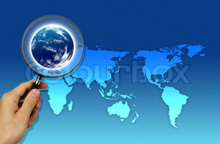 Magnifier focused on map