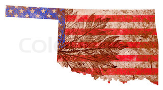 Oklahoma State Map Flag Pattern