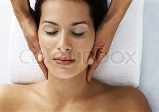 Image of 'massage, towels, portrait'