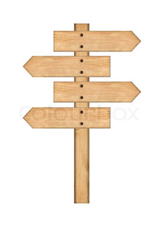 wood signs isolated