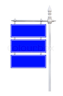 signboard isolated on white