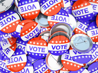 American vote buttonsillustration