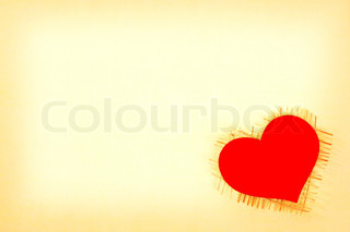 card with a red heart